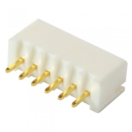 Connecteur JST XH 2.54mm Mâle 6 Voies Plaqué Or (Unité)