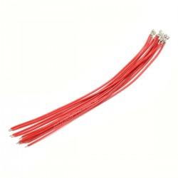 Câble XH 2.54mm Femelle Sans boîtier vers Fil Nu 15cm Rouge (x10)