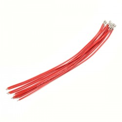 XH 2.54mm Female to Bare wire Cable 1 Poles No Casing Red 15cm (x10)