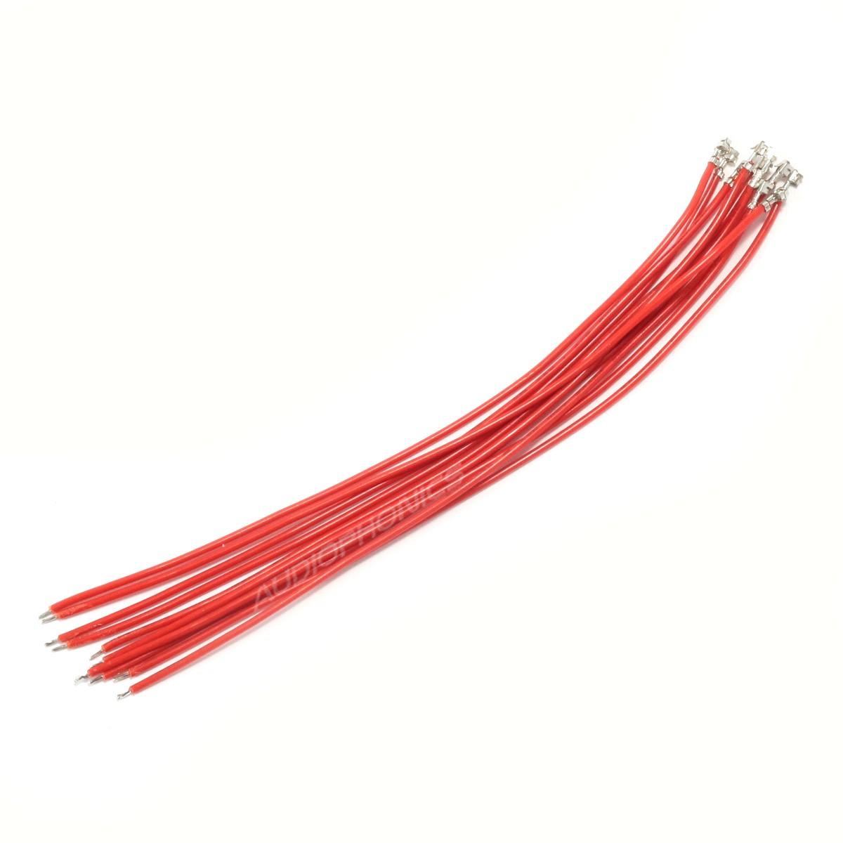 Câble XH 2.54mm Femelle vers Fil Nu Sans Boîtier 15cm Rouge (x10)