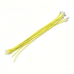 Câble XH 2.54mm Femelle vers Fil Nu Sans Boîtier 15cm Jaune (x10)