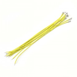 XH 2.54mm Female to Bare wire Cable 1 Poles No Casing Yellow 15cm (x10)