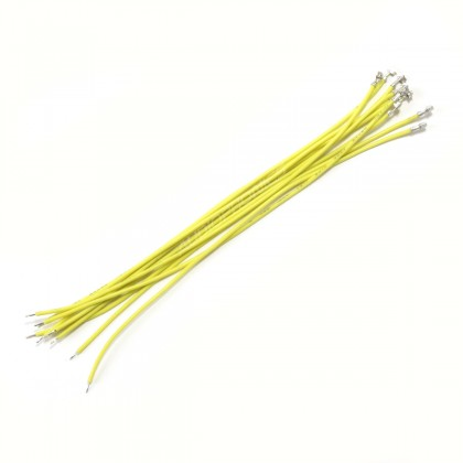 Interconnect Cable for XH to Bare Wire 2.54mm 1 Pin 15cm Yellow (x10)