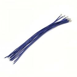 Câble XH 2.54mm Femelle vers Fil Nu Sans Boîtier 15cm Bleu (x10)