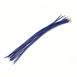 XH 2.54mm Female to Bare wire Cable 1 Poles No Casing Blue 15cm (x10)