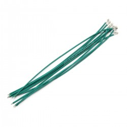 XH 2.54mm Female to Bare wire Cable 1 Poles No Casing Green 15cm (x10)
