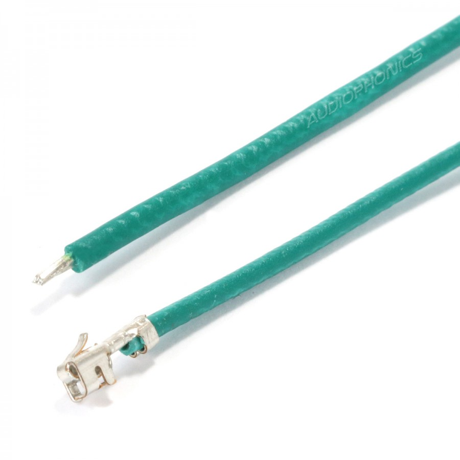 XH 2.54mm Female to Bare wire Cable 1 Poles No Casing Green 15cm ...