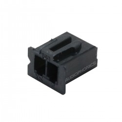 2 Channels XH 2.54mm Female Plug Black (Unit)