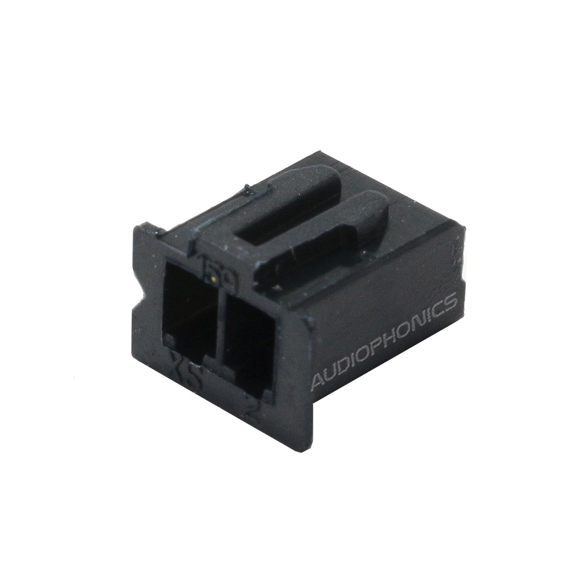 XH 2.54mm Female Casing 2 Channels Black (Unit)