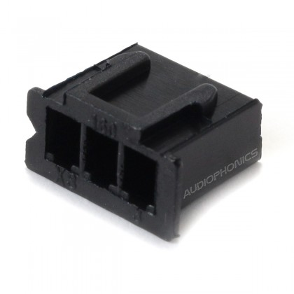 3 Channels XH 2.54mm Female Plug Black (Unit)