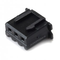 3 Channels XH 2.54mm Female Plug Black (Unit)