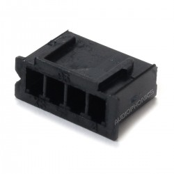 4 Channels XH 2.54mm Female Plug Black (Unit)