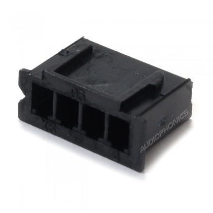 4 Channels XH 2.54mm Female Plug Black (Unit)