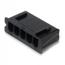 5 Channels XH 2.54mm Female Plug Black (Unit)