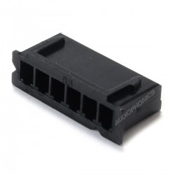XH 2.54mm Female Casing 6 Channels Black (Unit)