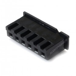 6 Channels XH 2.54mm Female Plug Black (Unit)