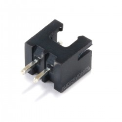 XH 2.54mm Male Socket 2 Channels Black (Unit)
