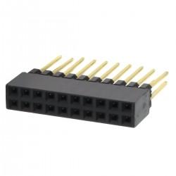 Connecteur Barrette Droit Femelle / Mâle 2x10 Pins 11mm 2.54mm