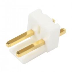 Connecteur Barrette Droit VH 3.96mm Mâle / Mâle 2 Voies Blanc Plaqué Or (Unité)