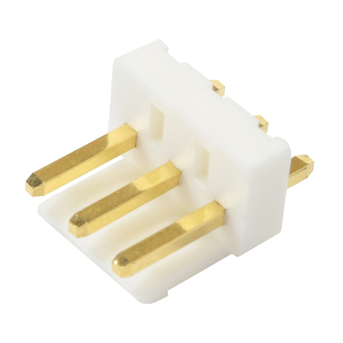 VH 3.96mm Male Socket 3 Channels Gold-Plated White (Unit)