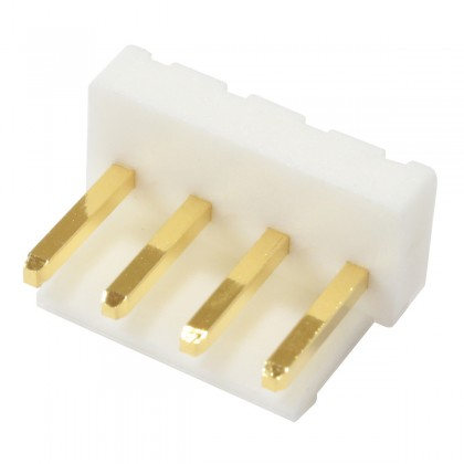 Pin Header Straight Connector VH 3.96mmMale / Male 4 Channels Gold Plated (Unit)