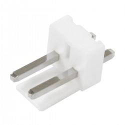 Connecteur Barrette Droit VH 3.96mm Mâle / Mâle 2 Voies Blanc (Unité)