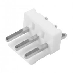 Connecteur Barrette Droit VH 3.96mm Mâle / Mâle 3 Voies Blanc Plaqué Or (Unité)