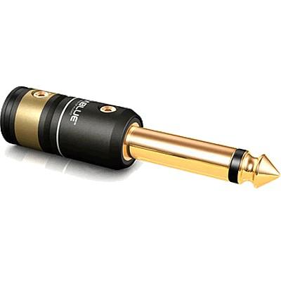 VIABLUE T6s Connecteur Jack 6.35mm Mono Bronze Plaqué Or 24k Ø9.5mm (La paire)