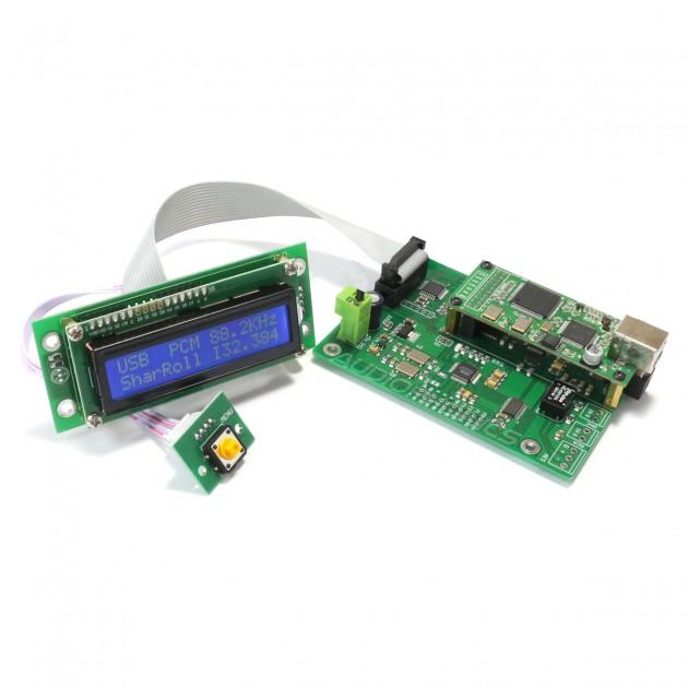 AKM AK4137EQ Digital interface SPDIF I2S 24bit 192kHz wih LCD display