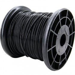 ELECAUDIO FC105T Fil de Câblage Cuivre FEP 0.5mm² (Noir)