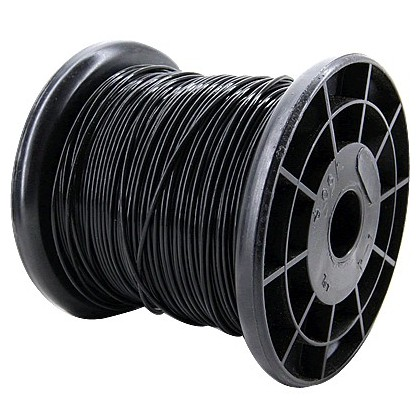 ELECAUDIO FC110TS Fil de Câblage Cuivre/Argent FEP 1.0 mm² (Noir)