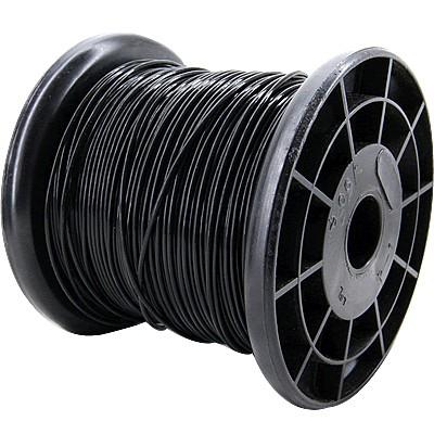 ELECAUDIO FC110TS Fil de Câblage Cuivre / Argent FEP 1mm² (Noir)