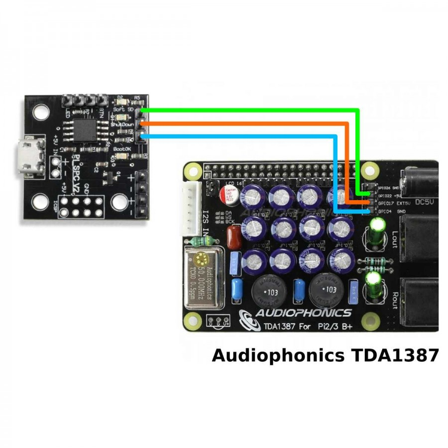 Audiophonics Pi Spc V2 Power Management Module For Raspberry Circuit Diagram Of The Train A Typical Atx Computer