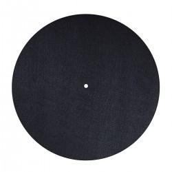 DYNAVOX PM2 Couvre-Plateau Feutrine pour Platine Vinyle Ø 30cm Noir