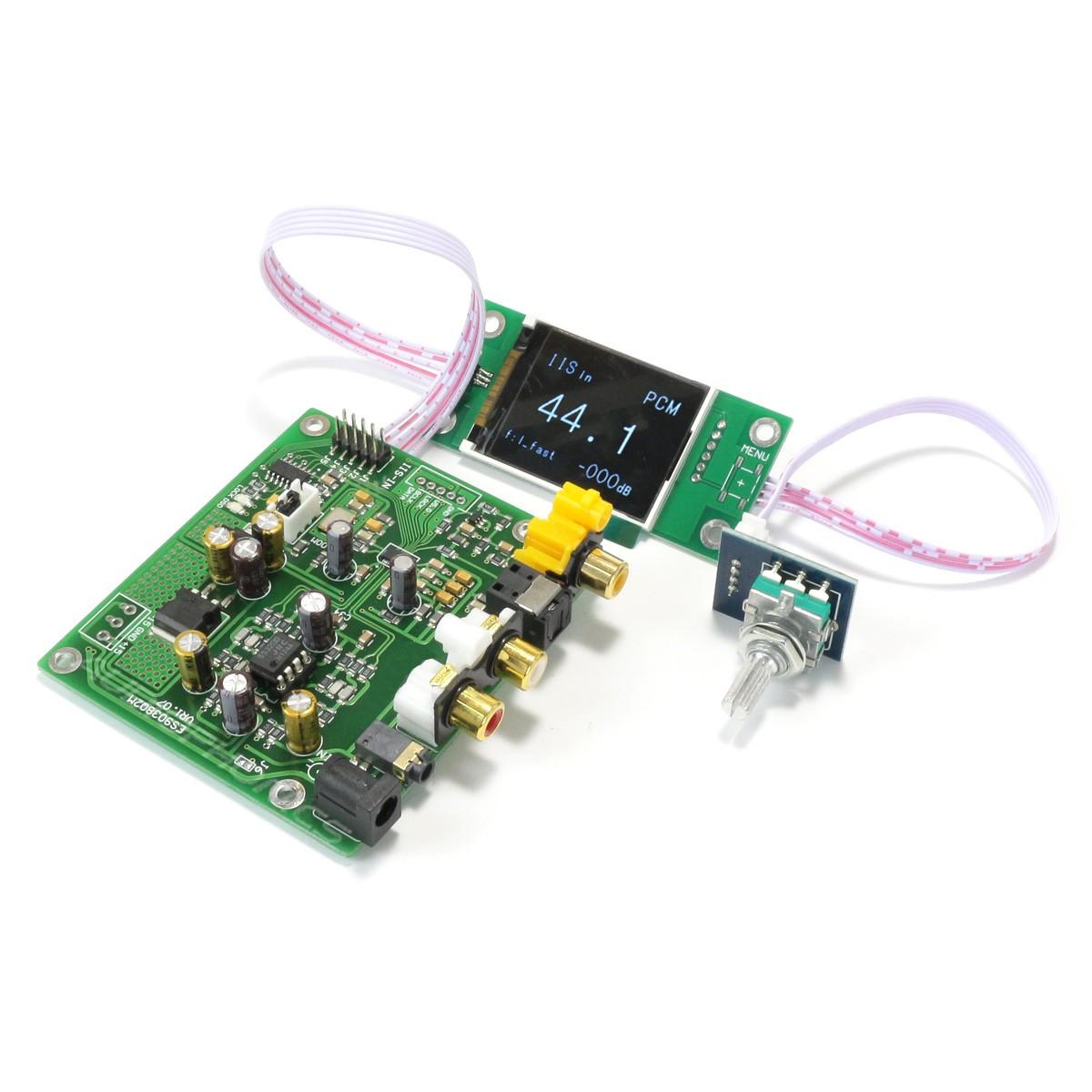 Module DAC ES9038Q2M I2S Coaxial Optique 32bit 384kHz DSD