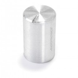 Knob Aluminium Notched Shaft 10x15mm Ø6mm Silver