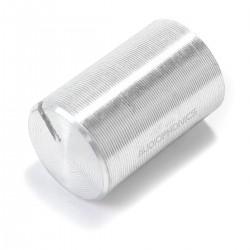 Bouton Aluminium Axe Cranté 10x15mm Ø6mm Argent