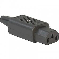 Connecteur IEC C13 SCHURTER 4782 3x2.5mm² RoHS Ø8.5mm