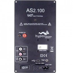 Module Amplificateur HYPEX AS2.100 Filtrage DSP - 2x100W + LFE