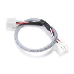 Câble XH 2.54mm Femelle / Femelle blindé 2 Connecteurs 3 Pôles Gris 15cm (Unité)