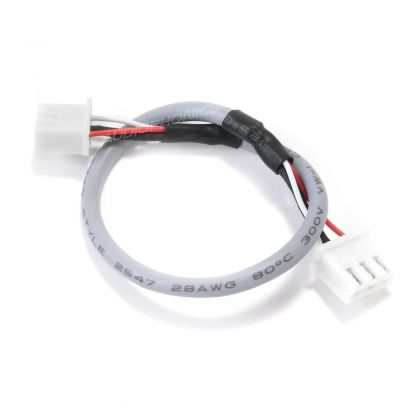 XH 2.54mm Shielded Cable with 3 Poles Connectors Gray 15cm (Unit)