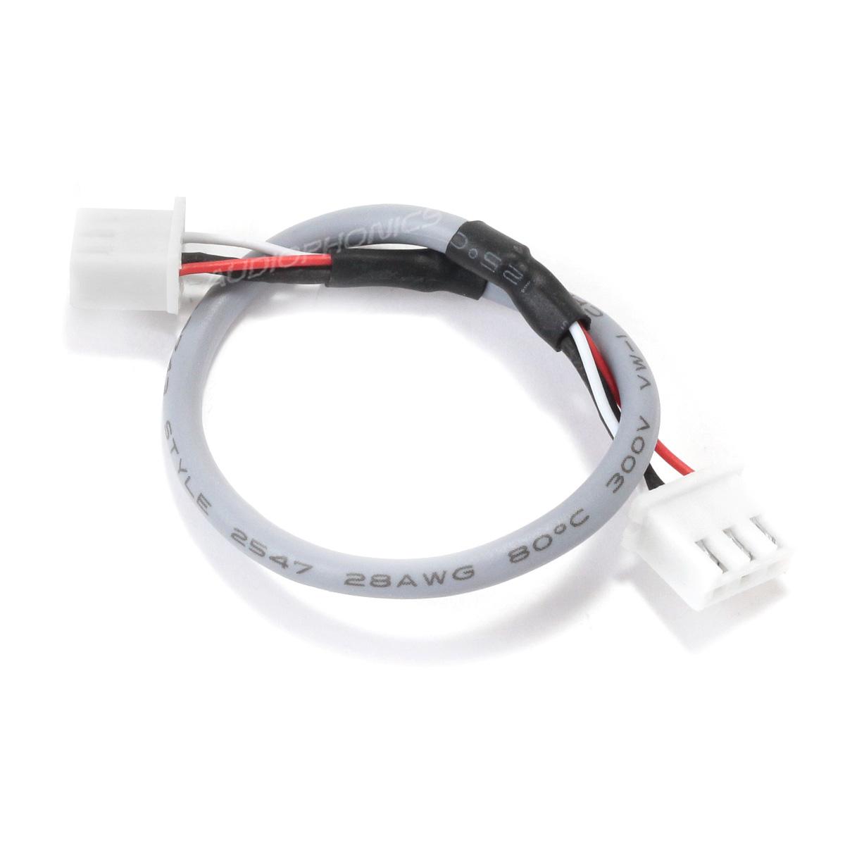 XH 2.54mm Female / Female Cable 3 Poles 2 Connectors Shielded Gray 15cm (Unit)