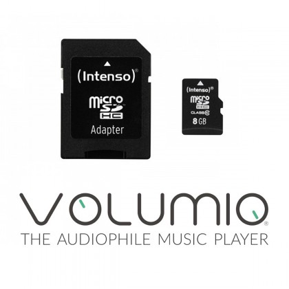 VOLUMIO SDHC Volumio Operating System Pre-installed on 8GB Micro SD Card