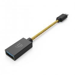 iFi Audio Câble OTG USB-A Femelle vers USB-C Mâle 12cm