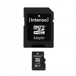 INTENSO Carte Mémoire Micro SDHC Class 10 32Gb + Adaptateur