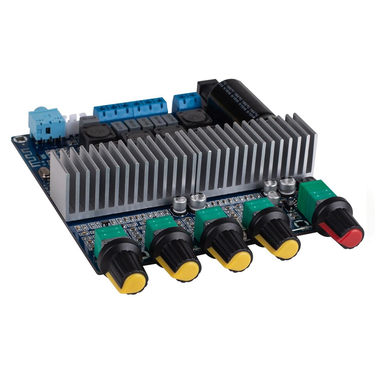 TPA3116D2 Module Amplificateur 2.1 Class D Bluetooth 4.0 2x50W + 100W avec Filtre Contrôles de Volume et Tonalités