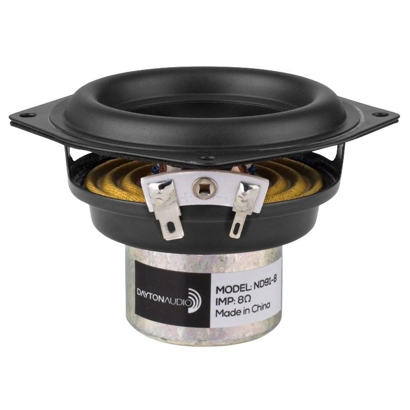 DAYTON AUDIO ND91-8 Speaker Driver Full Range 30W 8 Ohm 82dB 65Hz - 17kHz Ø10cm
