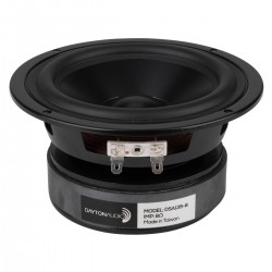 """DAYTON AUDIO DSA135-8 5"""" Designer Series Haut-Parleur de Grave Aluminum 50W 8 Ohm 87dB 51Hz - 9000Hz Ø 13.3cm"""