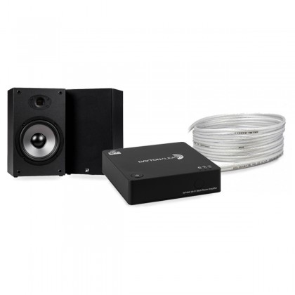 Pack DAYTON AUDIO WF40A Multiroom Amplifier + DAYTON AUDIO B652 AIR Speakers + MEDIA-SUN SILHOUETTE MS2S Speaker Cable 4m