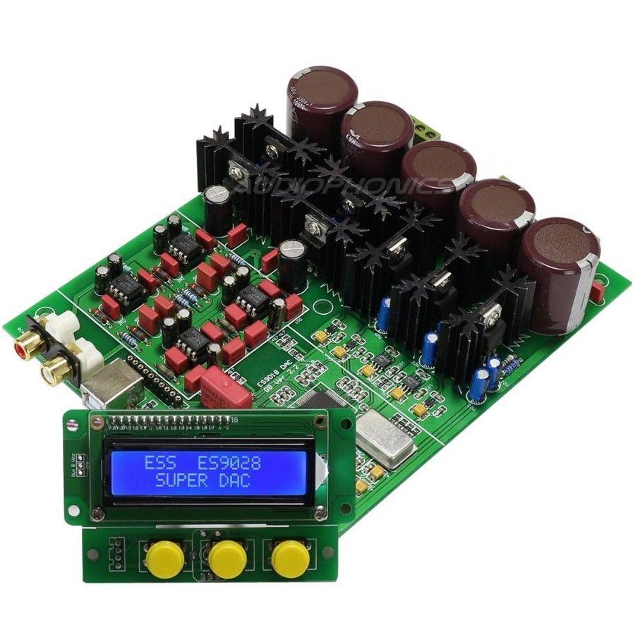 ESS ES9028 PRO Module DAC 32bit 384khz DSD Régulateurs 3x LM317T Télécommande